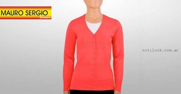 cardigan  fluor tejido - Mauro Sergio sweater verano 2016