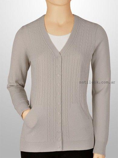cardigans tejido gris - Mauro Sergio sweater verano 2016