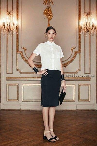 c0a194308 falda para señoras Cacharel primavera verano 2016 – Moda Mujer Argentina