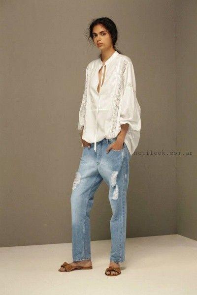 jeans con roturas - Maria Cher verano 2016