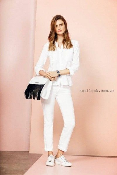 outfit total white - UMA primavera verano 2016