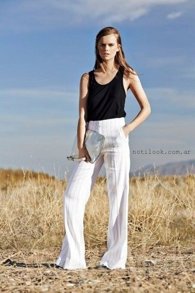 pantalon de vestir von rayas verano 2016 Paula Cahen D'Anvers