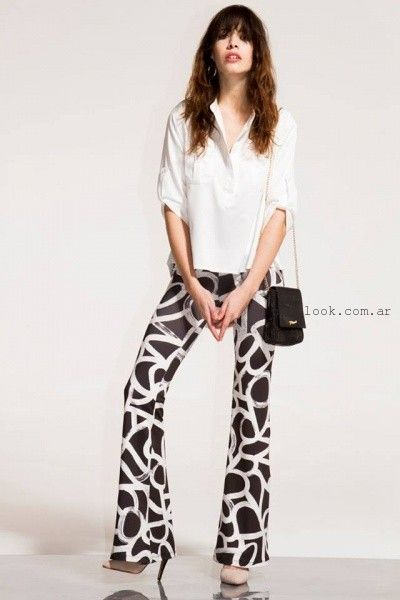pantalon vestir estampado oficina verano 2016 - Paris by Flor Monis