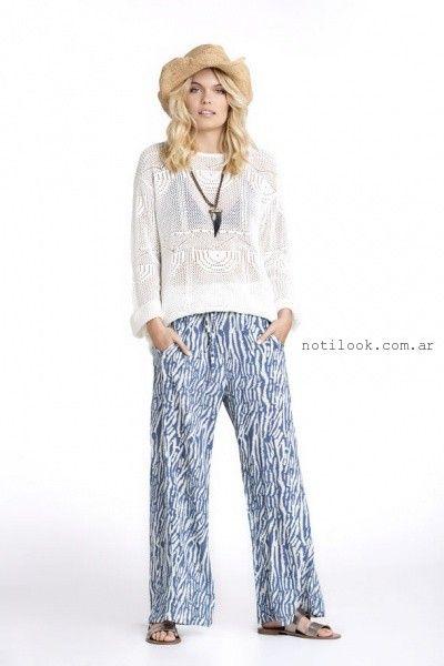 pantalones palazos Kevingston mujer primavera verano 2016