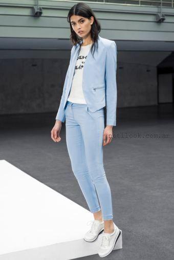 sastres femeninos con pantalon chupin verano 2016 Markova