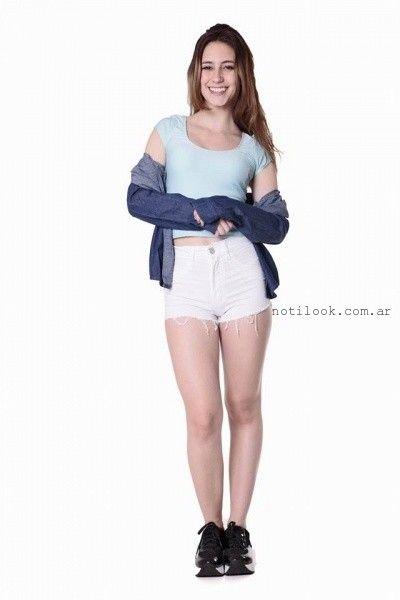 short de jeans blanco verano 2016 - Diosa Luna