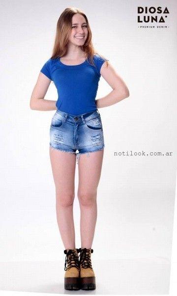 short de jeans verano 2016 - Diosa Luna