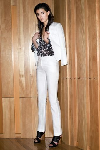 5db2d28c7a Traje Blanco Mujer Verano 2016 Markova Noticias De Moda Argentina