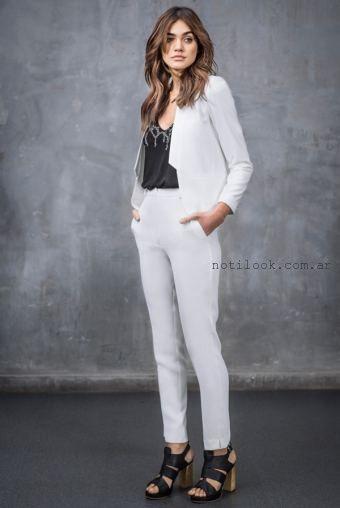 traje con pantalon chupin verano 2016 Markova
