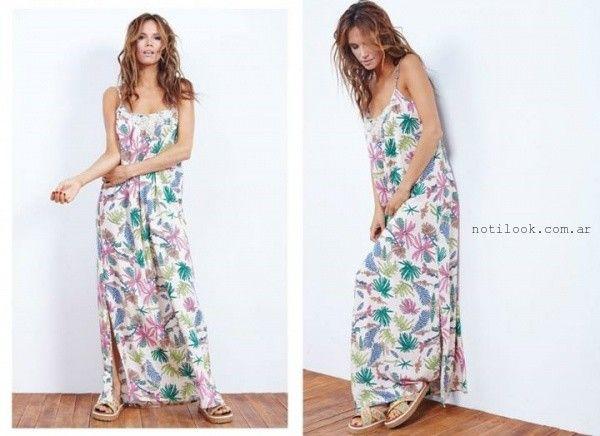 vestido largo de dia Doll Store verano 2016