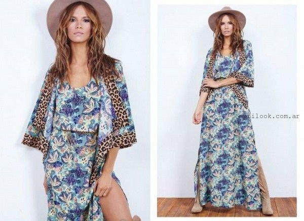 vestido largo estampado verano 2016 Doll Store