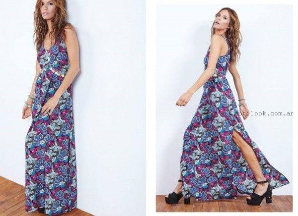 dd6dc2126e vestido largo floreado de dia verano 2016 Doll Store – Moda Mujer ...