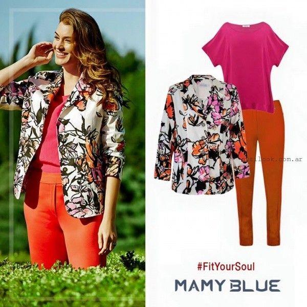 blazer mujer estampado Mamy Blue primavera verano 2016