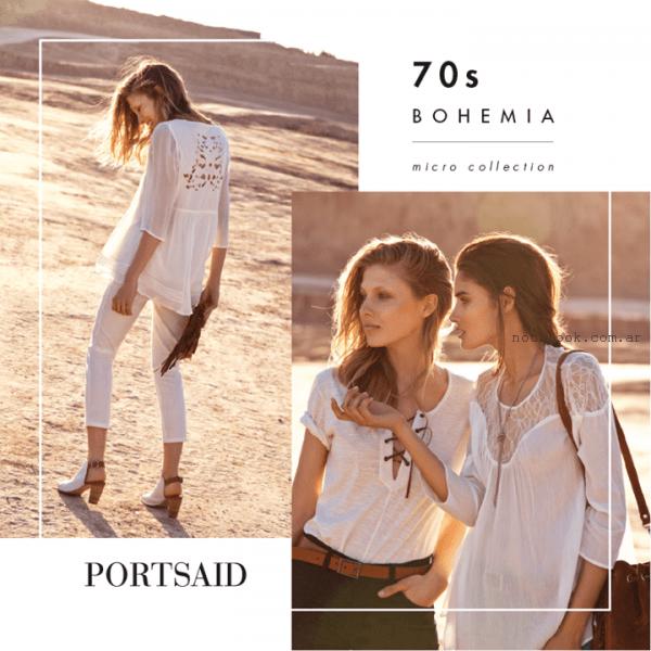 blusas bohemias blancas verano 2016 portsaid