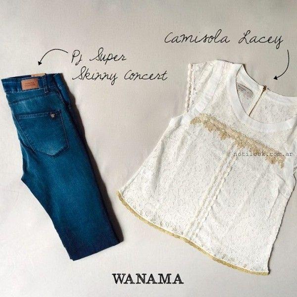 blusas de encaje y puntilla verano 2016 wanama