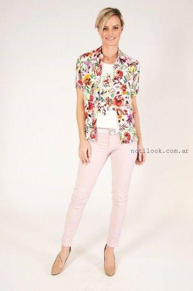 camisas estampadas mujer verano 2016 Mirta Armesto
