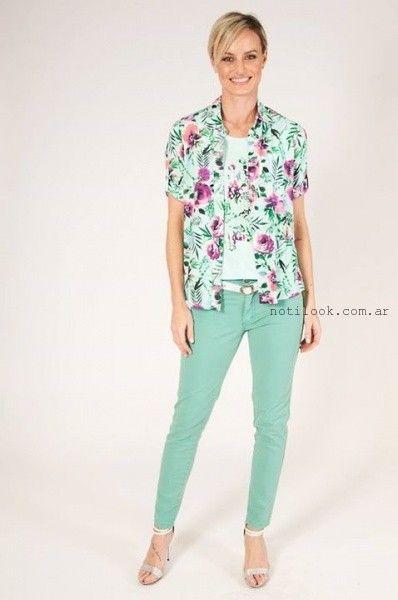 camisas mangas cortas estampadas verano 2016 Mirta Armesto