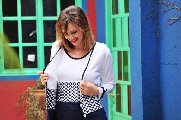 conjunto de remera y cardigan tejidos verano 2016 di madani Sweaters