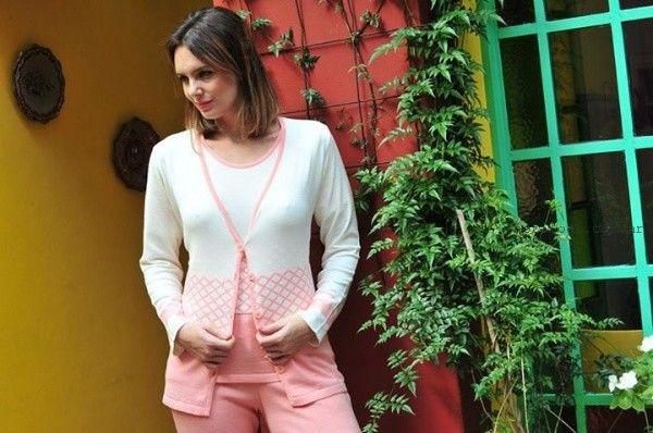 conjuntos de remera y cardigans de hilo verano 2016 di madani Sweaters