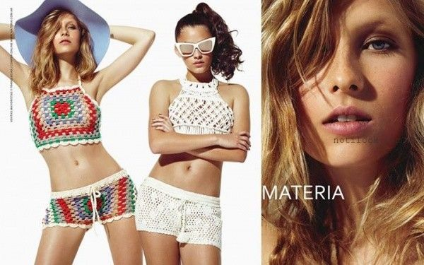 crop tops y short a crochet verano 2016 Materia