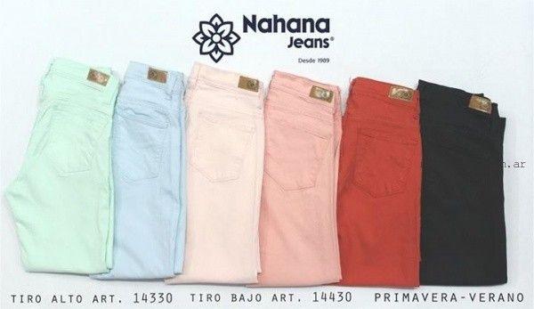 jeans de colores verano 2016 nahana