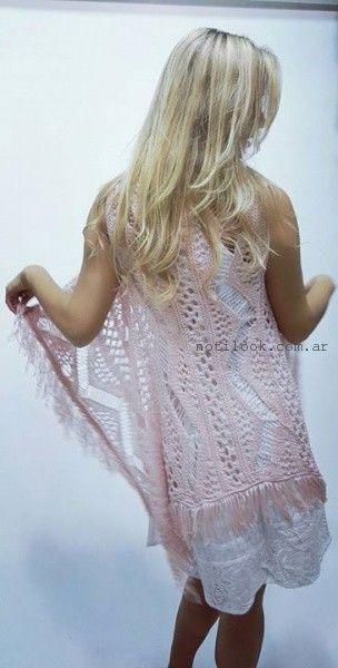 kimono tejido a crochet verano 2016 vars