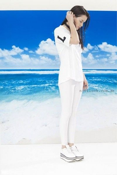 look total white informal verano 2016 Yosy Lovers