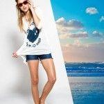 Outfits de verano 2016 – Remeras y shorts de jeans a la moda by NUARA