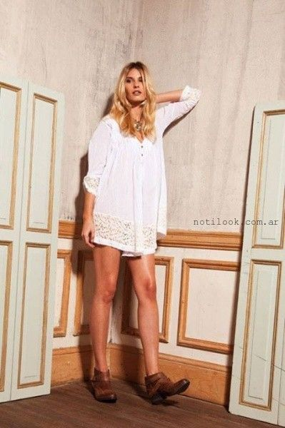 vestido corto blanco informal verano 2016