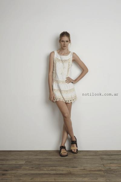 vestido corto con puntillas verano 2016 wanama
