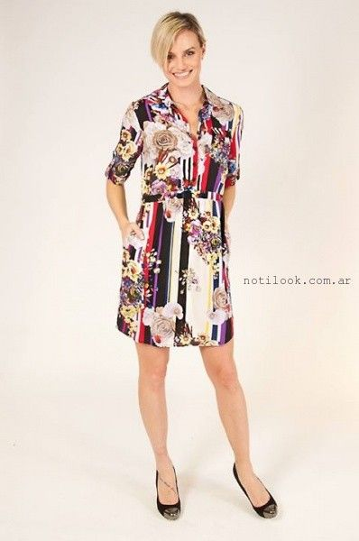 vestido corto de dia estampado verano 2016 Mirta Armesto