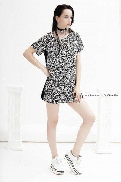 vestido corto recto informal verano 2016 Yosy Lovers
