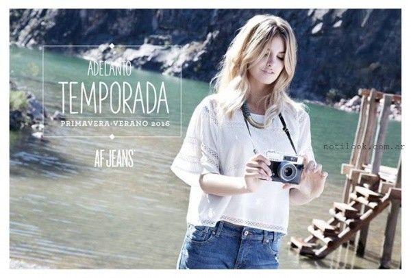 blusa blanca af jeans verano 2016