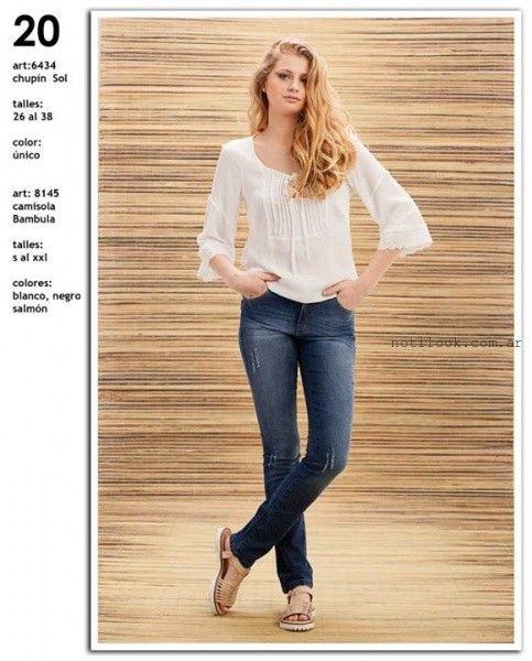 blusa blanca con puntilla  Okoche verano 2016