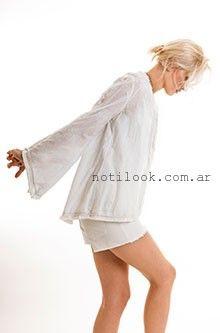 blusa blanca mangas largas  Zulas verano 2016