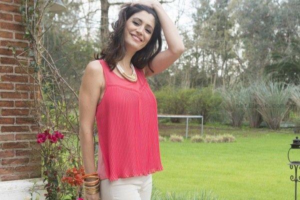 blusa de gasa plisada verano Châtelet 2016