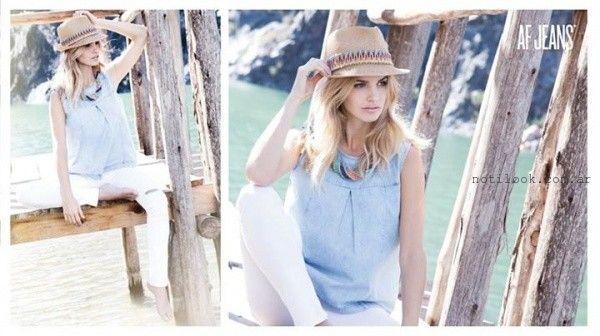 blusa denim verano 2016 af jeans