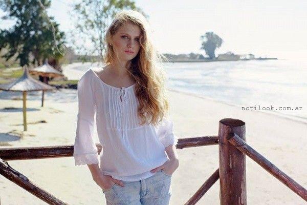 blusas blancas  Okoche verano 2016