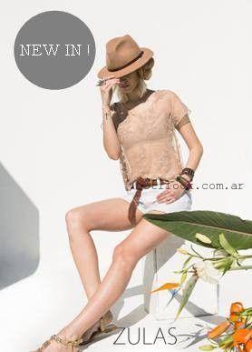 blusas con encaje  Zulas verano 2016