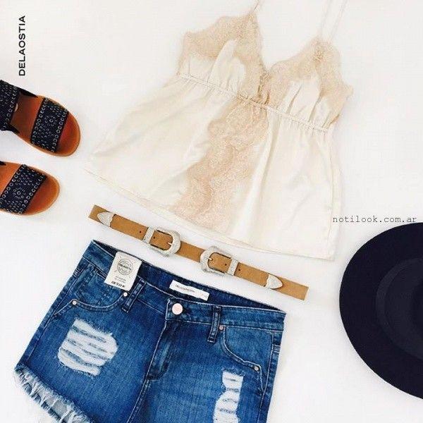 blusas con encaje juveniles Delaostia verano 2016