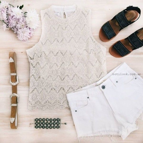blusas de guipur juveniles Delaostia verano 2016