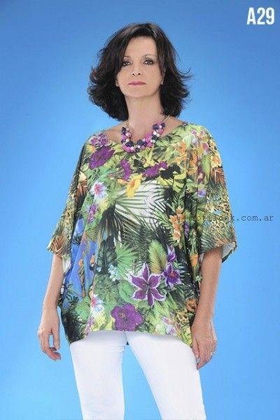 blusas en talles grandes loren verano 2016