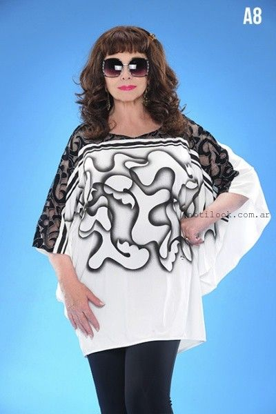 blusas estampadas talles grandes loren verano 2016