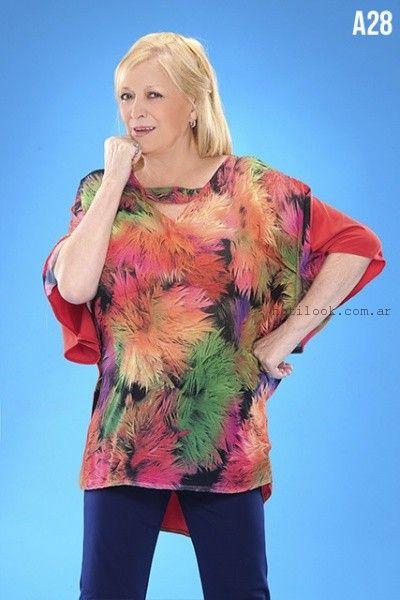 blusas estampadas verano 2016 loren talles grandes