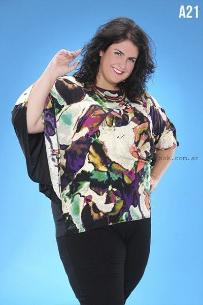 blusas para gorditas loren verano 2016