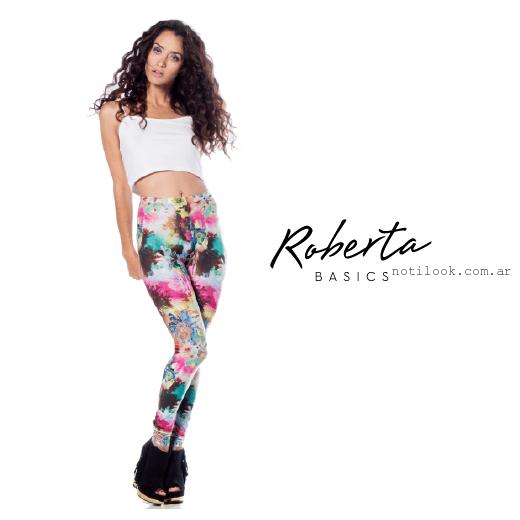 calzas Roberta Basics estampadas verano 2016