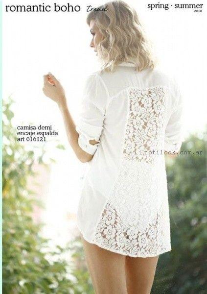 camisa blanca con encaje verano 2016 verano 2016 City Jenifer Argentina