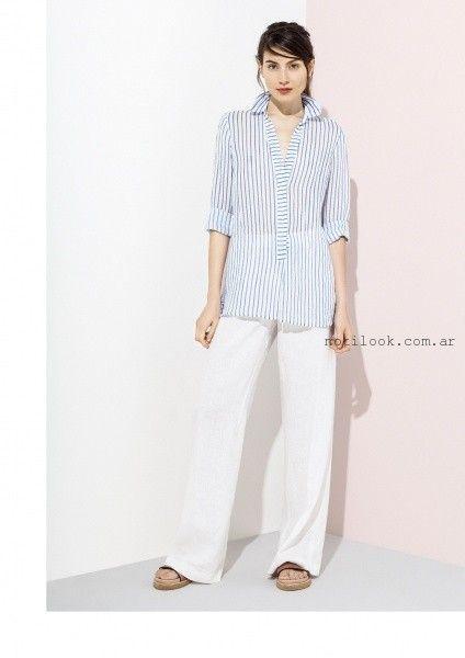 camisas a rayas para mujer verano 2016 graciela naum