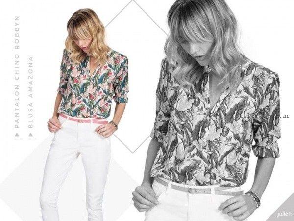 camisas estampadas para mujer Julien verano 2016
