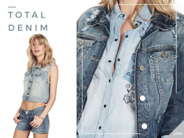 look total denim Julien verano 2016